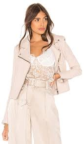 latest lamarque pink tinged donna leather biker jacket for women
