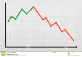 Bull And Bear Market Line Chart Graphic Falling Down