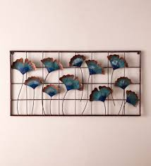>recycled metal gingko leaf wall d cor vivaterra