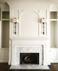Fireplace Mantels Pictures Design Love The Arch And Sconces Would Do Brick Instead Of Marble