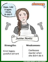 justine moritz in frankenstein character analysis
