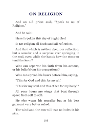 Kahlil Gibran The Prophet Pages 101 132 Text Version Fliphtml5