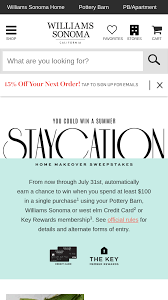 williams sonoma staycation win one