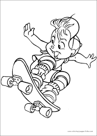 alvin and the chipmunks color page cartoon characters coloring pages color plate coloring