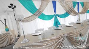 Turquoise And White Wedding Decorations Tent Wedding Decorations By Luxe Weddings And Events Youtube
