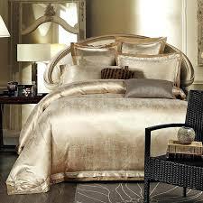 gold duvet cover king gold white blue jacquard silk bedding set luxury satin bed set duvet