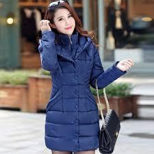 jolintsai winter jacket women mid long hooded parkas mujer thick cotton padded coats casual slim winter