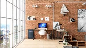 industrial style home office. 1 Industrial Style Home Office L