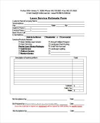 Work Estimate Templates Sample Service Estimate Template 7 Free Documents