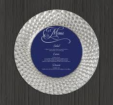 Wedding Menu Printable Round Wedding Menu Circle Menu