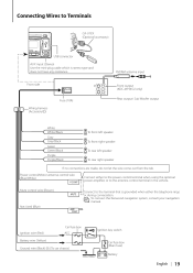 kenwood wiring diagram kdc 345 whats the red wire for kenwood during conversation mute control wire brown mute connect to the antenna control terminal in the vehicle to connect the kenwood navigation system