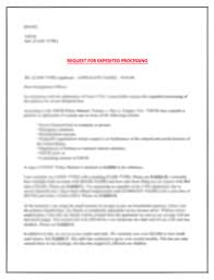 Sample Vawa Cover Letter Ep15 How To Expedite Ead Request Sample Letter