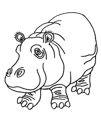 Small Picture Pink Hippo coloring page Hippopotamus Coloring page gifties
