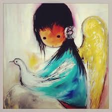 degrazia s signature work is paintings and ilrations of angel like southwest children