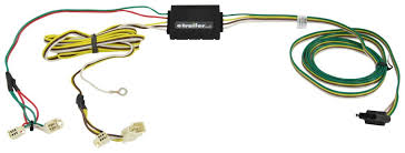 curt t connector vehicle wiring harness with 4 pole flat trailer connector curt custom fit vehicle wiring c55341