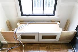 diy window seat from a kitchen cabinet blesserhouse com a simplified tutorial for