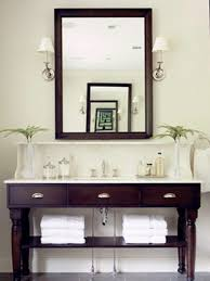 bathroom vanities ideas. Bathroom Inspirations | : Vintage Furnishings Designs Using Dark Brown Wooden Vanity Ideas With Vanities A