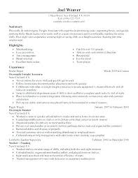 Employment History Template Delectable What To Put In The Summary Part Of A Resume Resume For Part Time Job