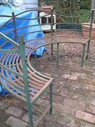 metal garden seat bench semi circle