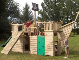 pirate ship outdoor wooden playhouses