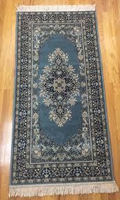 belgium wool rug 31 x 68 vintage machine made persian assur carpets diplomat