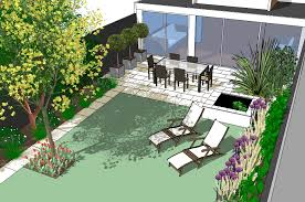 Small Picture Modern patio with pond design for small south facing city garden