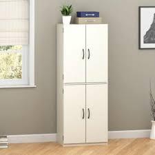 Amazoncom Mainstays Tall Storage Cabinet 4 Door White Home