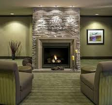 living room design ideas stone wall of fireplace for