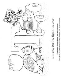 Letter T Coloring Abcs Free Coloring Pages For Kids Printable