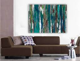 saatchi art large contemporary original abstract tree landscape inside most recent blue and brown abstract on blue brown wall art with 18 best collection of blue and brown abstract wall art