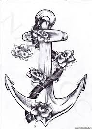якоря черно белые галерея татуировка в омске сделать