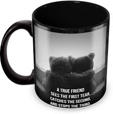Tuelip Printed Friendship Quotes About True Friends With Teddy Bear Delectable Tea Quotes Friendship