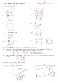 remarkable solving equations with variables on both sides worksheet answer point slope form and writing linear