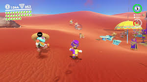 in sand kingdom town you ll find a dog near the sign for the spin cappy into him and the dog will guide you to a place where you can ground pound
