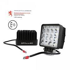 2 afterpartz f1 48w cree led work light fog light flood spot ip67 12 24v