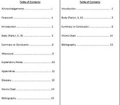 table of contents examples and format video lesson transcript  table of contents in mla format