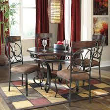 ashley furniture glambrey round dining table set