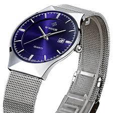 ultra slim watches amazon com tamlee fashion top luxury brand men date quartz watch steel mesh strap ultra thin dial clock blue