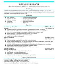 Massage Therapy Resume Sample Resume Cover Letter Format.