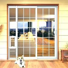 built in dog door sliding glass door with dog door built in glass dog door dog