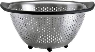 image oxo good grips 5 quart stainless steel colander