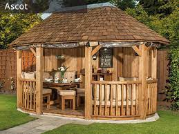 wooden garden gazebos luxury gazebos
