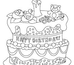 Birthday Cake Coloring Coloring Pages Birthday Cakes Coloring Pages