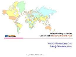 World Map World Editable Map World Powerpoint Map Authorstream