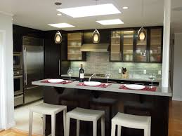 Kitchen with bar island modern-kitchen