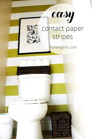 one of the best small bathroom design ideas i have seen use contact paper to