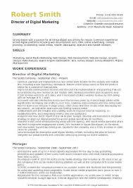 Digital Resume Templates Digital Marketing Resume Template Best Sample Digital