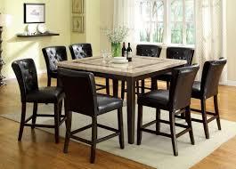 furniture of america cm3693pt cm3871pc lisbon ii 9 pieces contemporary dark walnut finish counter height table set