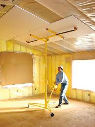 how to install drywall ceilings