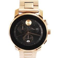 buy movado rose gold stainless steel black face mens watch shop movado rose gold stainless steel black face mens